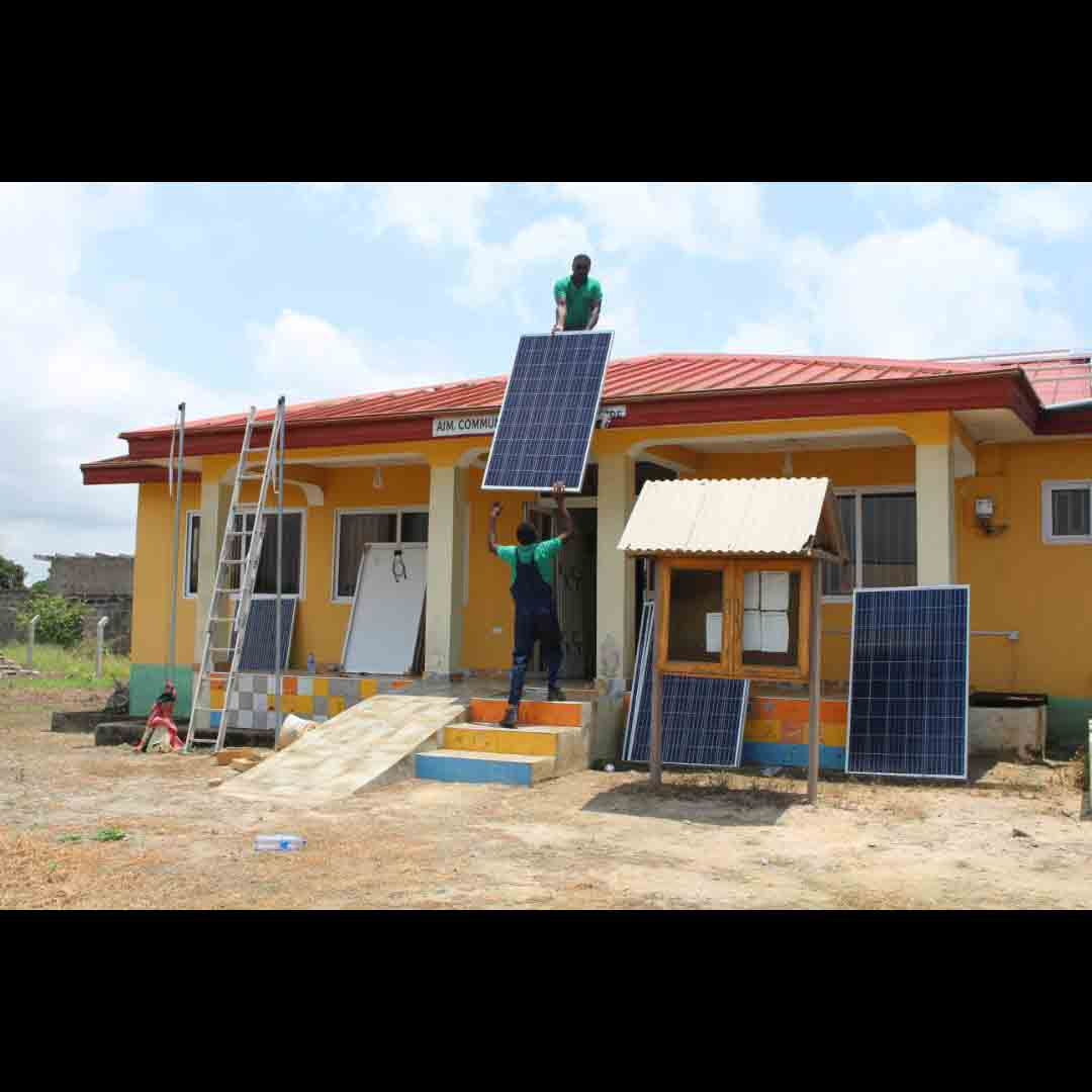 INSTALLATION OF THE SOLAR PANELS ON THE ROOF OF THE TRAINING CENTRE