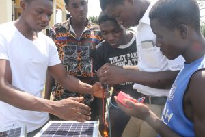solar project at Aim training centre